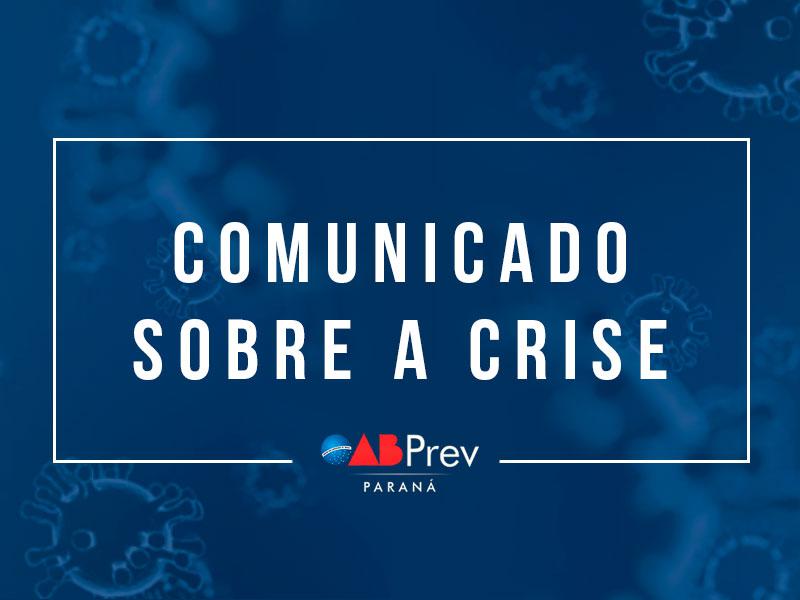 Comunicado sobre a crise