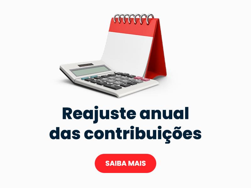 Reajuste anual das contribuições